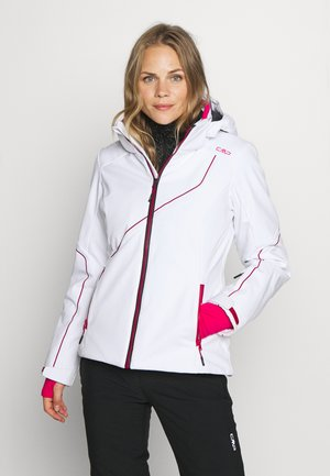 WOMAN JACKET ZIP HOOD - Ski jas - bianco