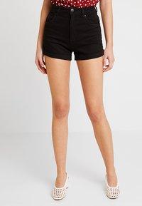 Cotton On - HIGH RISE CLASSIC STRETCH - Szorty jeansowe - black - 0