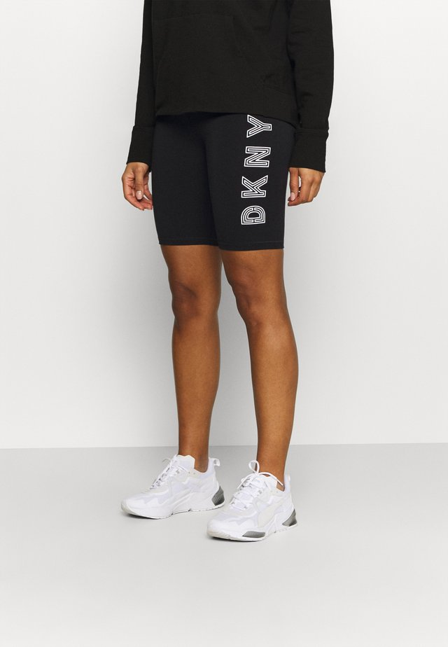 TRACK LOGO BIKE SHORT - Legging - black/white