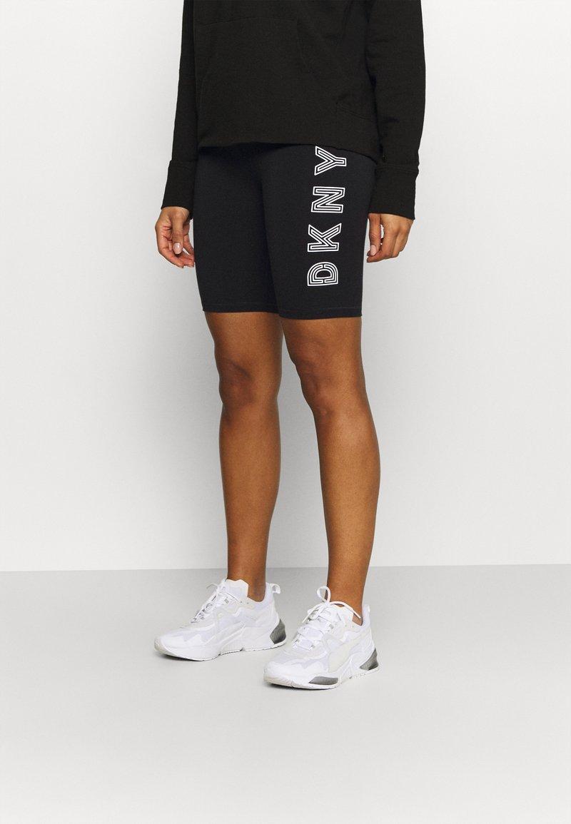 DKNY - TRACK LOGO BIKE SHORT - Collants - black/white