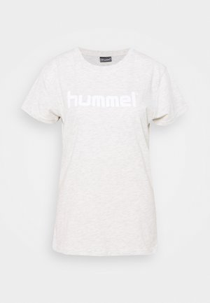 HMLGO  - T-shirt imprimé - egret melange
