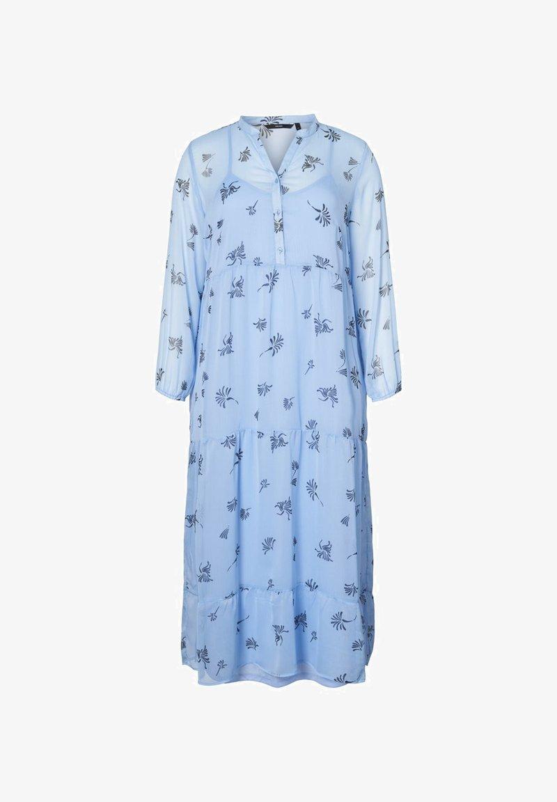 Vero Moda Curve - MIDIKLEID BEDRUCKTES - Vestito estivo - placid blue