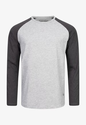 Long sleeved top - light grey melange