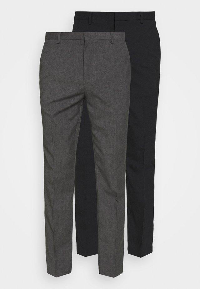 SLIM 2 PACK - Trousers - navy