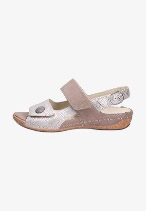 Sandals - platinbeige