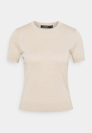 Print T-shirt - champagne
