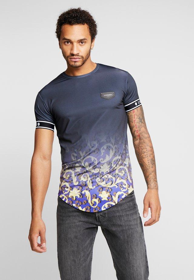 FADE BAROQUE LEOPARD TEE - Print T-shirt - black