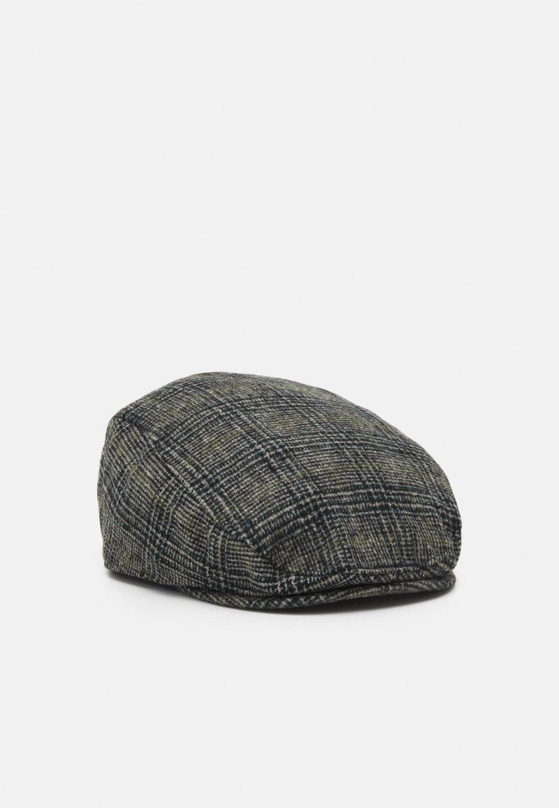 Burton Menswear London - POW CHECK FLAT - Cap - mid grey