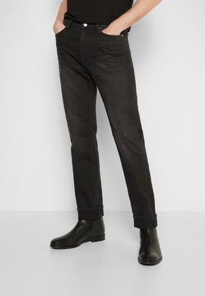 RUSSELL - Džíny Straight Fit - black denim