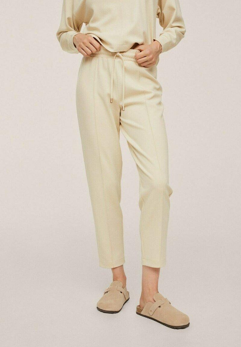 Mango - CORDON - Trousers - écru