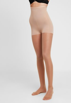 15 DEN WOMAN SHAPE TIGHTS INVISIBLE - Strømpebukser - powder