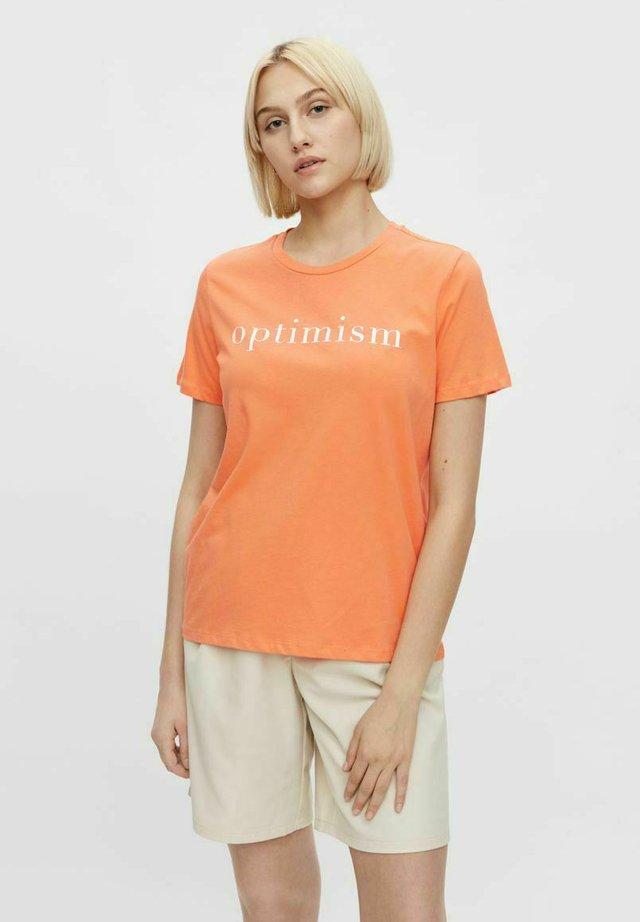 T-shirt z nadrukiem - nectarine