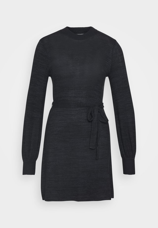 BELTED COZY DRESS - Jumper dress - black
