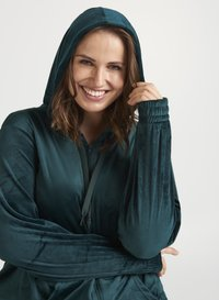 Zizzi - SAMT - Zip-up hoodie - dark green - 3