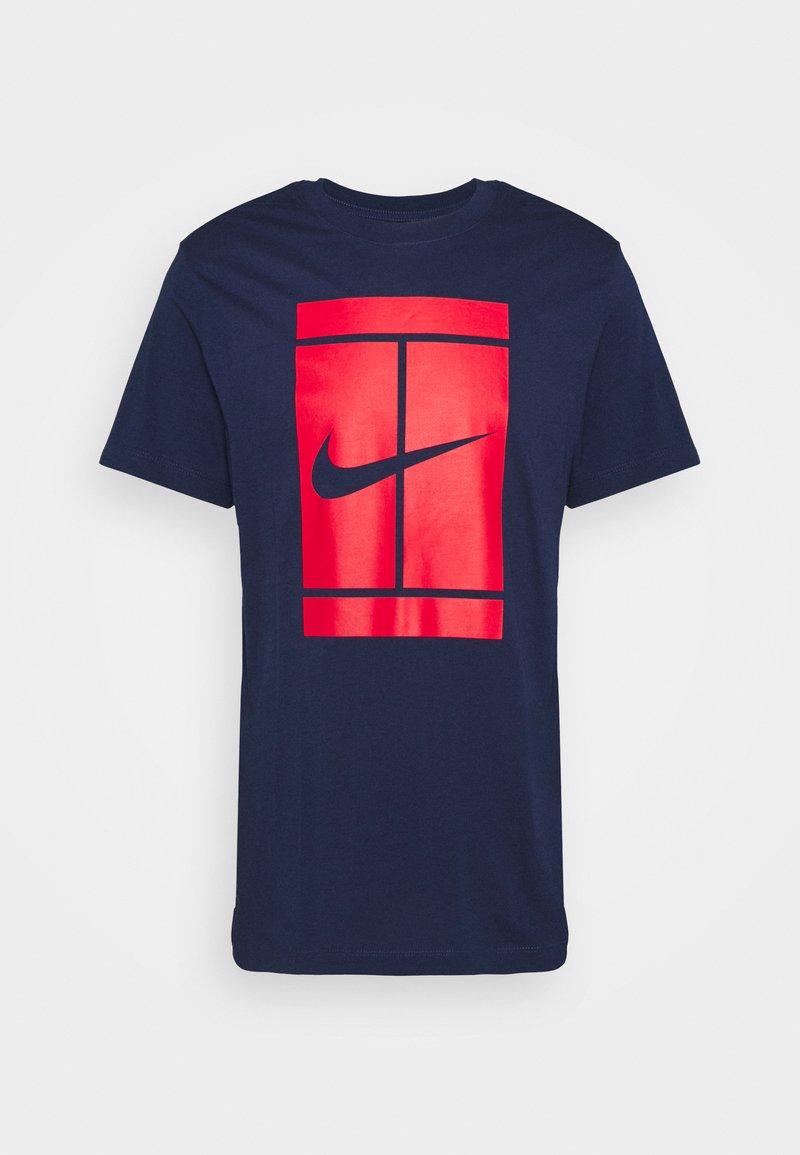 Nike Performance - TEE COURT - Print T-shirt - binary blue