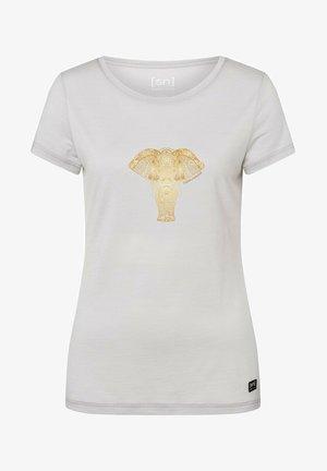 POWER ELEPHANT - Print T-shirt - hellgrau, gold