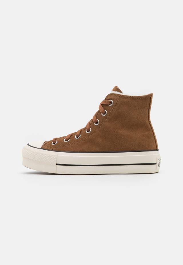 CHUCK TAYLOR ALL STAR LIFT - Sneakers alte - clove brown/egret/black
