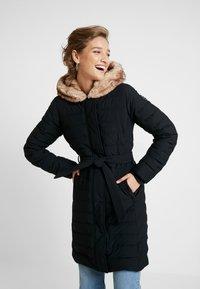 Abercrombie & Fitch - LONG PARKA - Down coat - black - 3