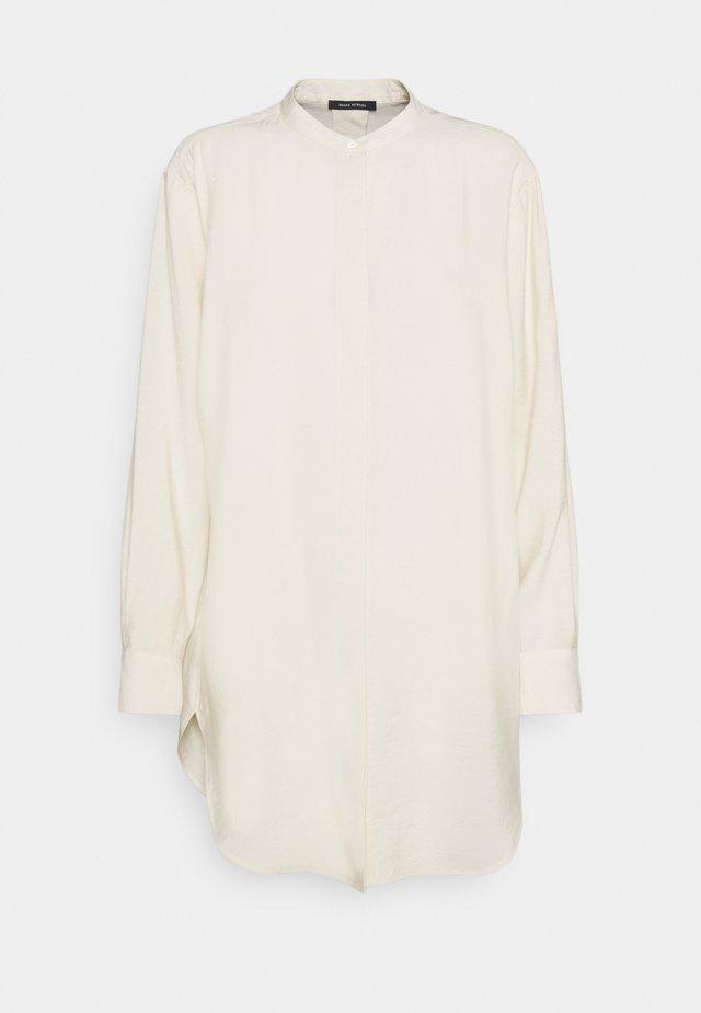 BLOUSE LONG SLEEVE - Button-down blouse - raw cream
