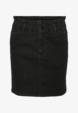 PAPERBAG - Denim skirt - black
