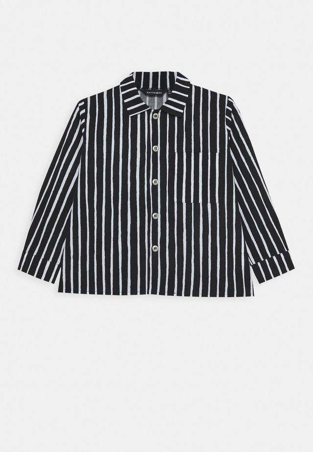 PIKKUPOJANPAITA - Overhemd - black/white