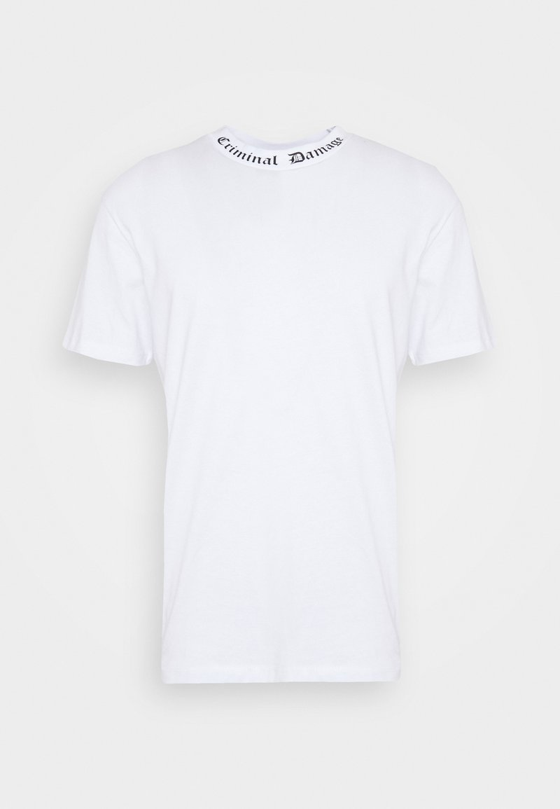 Criminal Damage - GOTH COLLAR TEE - Print T-shirt - white