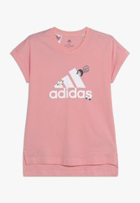 adidas Performance - BADGES ATHLETICS SHORT SLEEVE GRAPHIC TEE - T-shirt print - pink - 0