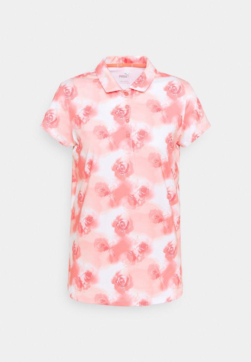 Puma Golf - CLOUDSPUN WATERCOLOR  - Polo shirt - georgia peach/ignite pink