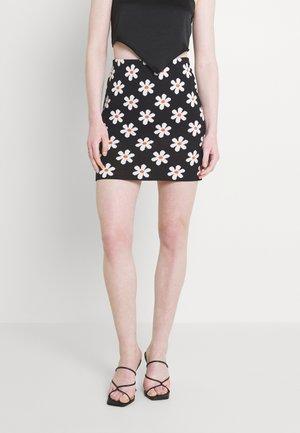 ADELINA SKIRT - Spódnica mini - black/white