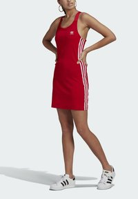 adidas Originals - RACER DRESS - Robe en jersey - scarlet - 3