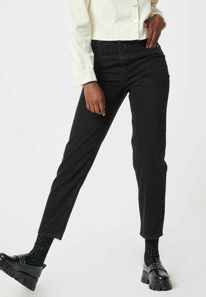 MIT BUND - Jeansy Straight Leg - schwarz