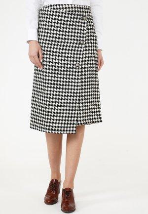 VIVIANA - Wrap skirt - weiß schwarz