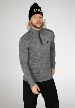 Long sleeved top - dark grey melee
