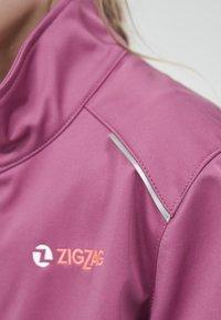ZIGZAG - Waterproof jacket - 4140 damson - 5