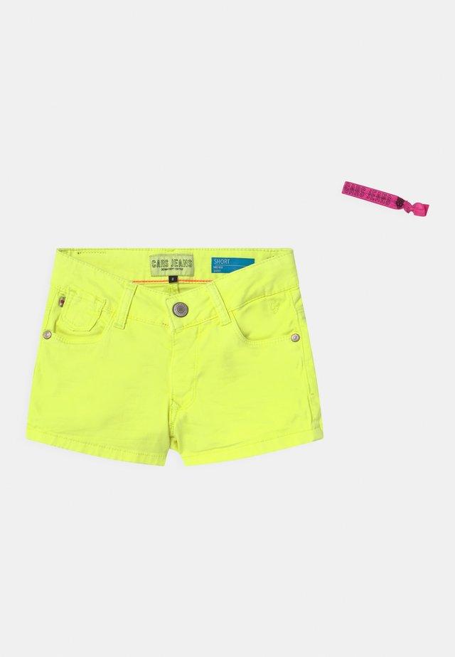IONI - Shorts di jeans - neon yellow