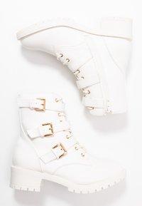 Bianco Wide Fit - BIACLAIRE  - Cowboy- / bikerstøvlette - white - 3