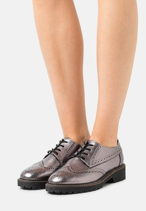 Lace-ups - pewter