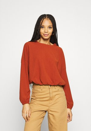 ONLZILLE ONECK - Long sleeved top - burnt henna