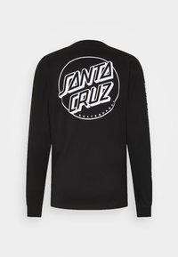Santa Cruz - OPUS DOT SLEEVES UNISEX  - Long sleeved top - black - 1