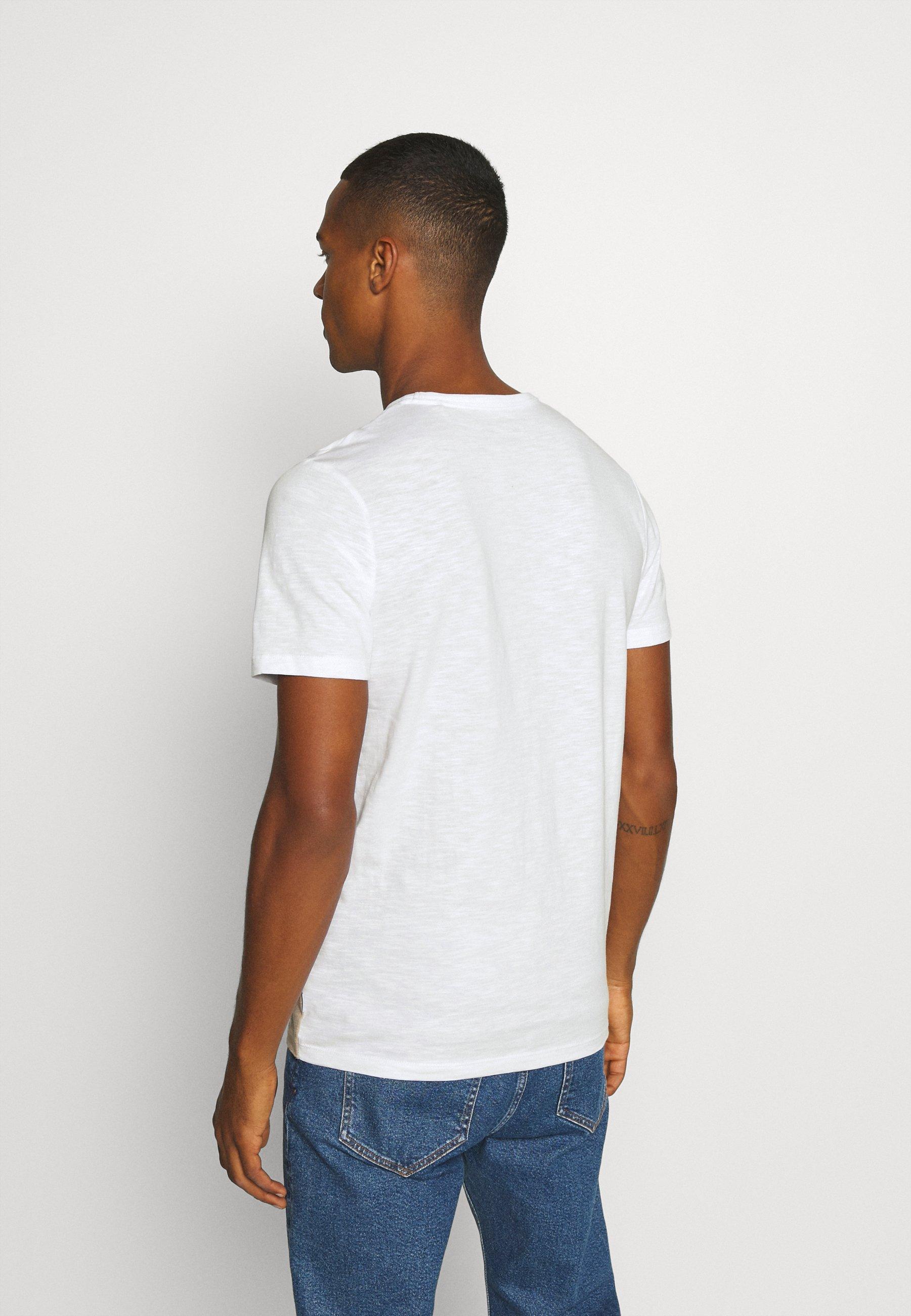 Jack & Jones JJBLOCK TEE CREW NECK - Print T-shirt - crockery 57ctf