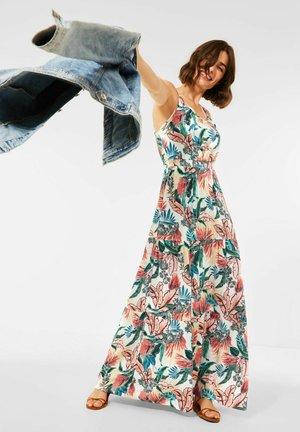 MIT PRINT - Maxi dress - weiß
