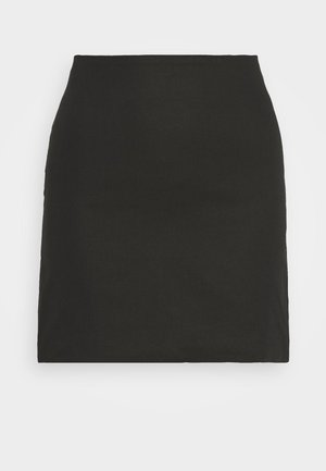 HIGH WAISTED MINI SKIRT - Minisukně - black