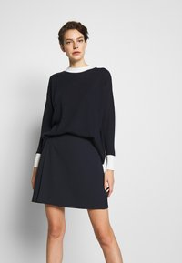 MAX&Co. - CANALI - A-line skirt - midnight blue - 0
