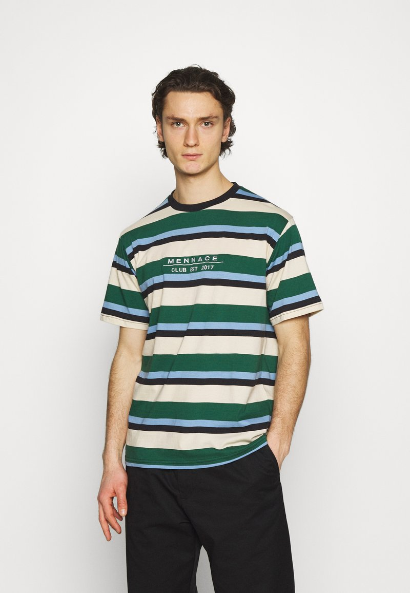 Mennace - CLUB HORIZONTAL STRIPE UNISEX - Print T-shirt - multi