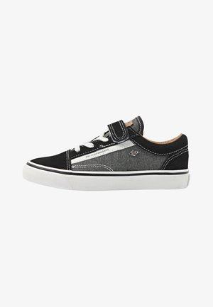 Sneakers laag - black/cognac