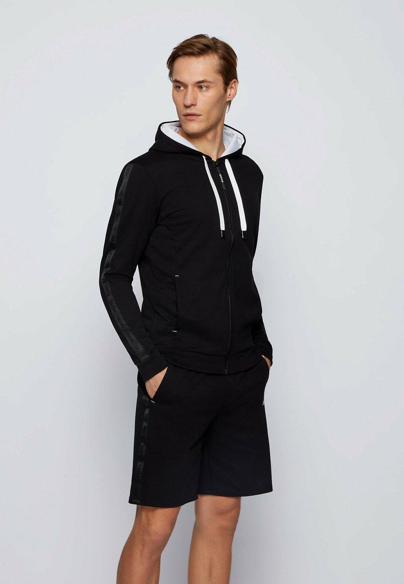 BOSS - Zip-up hoodie - black