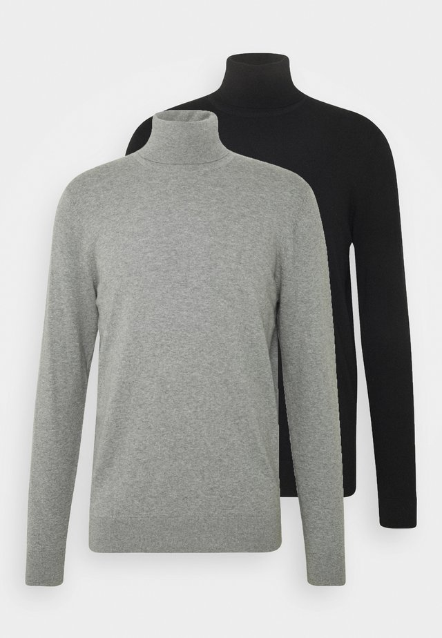 2 PACK - Sweter - black/mottled light grey
