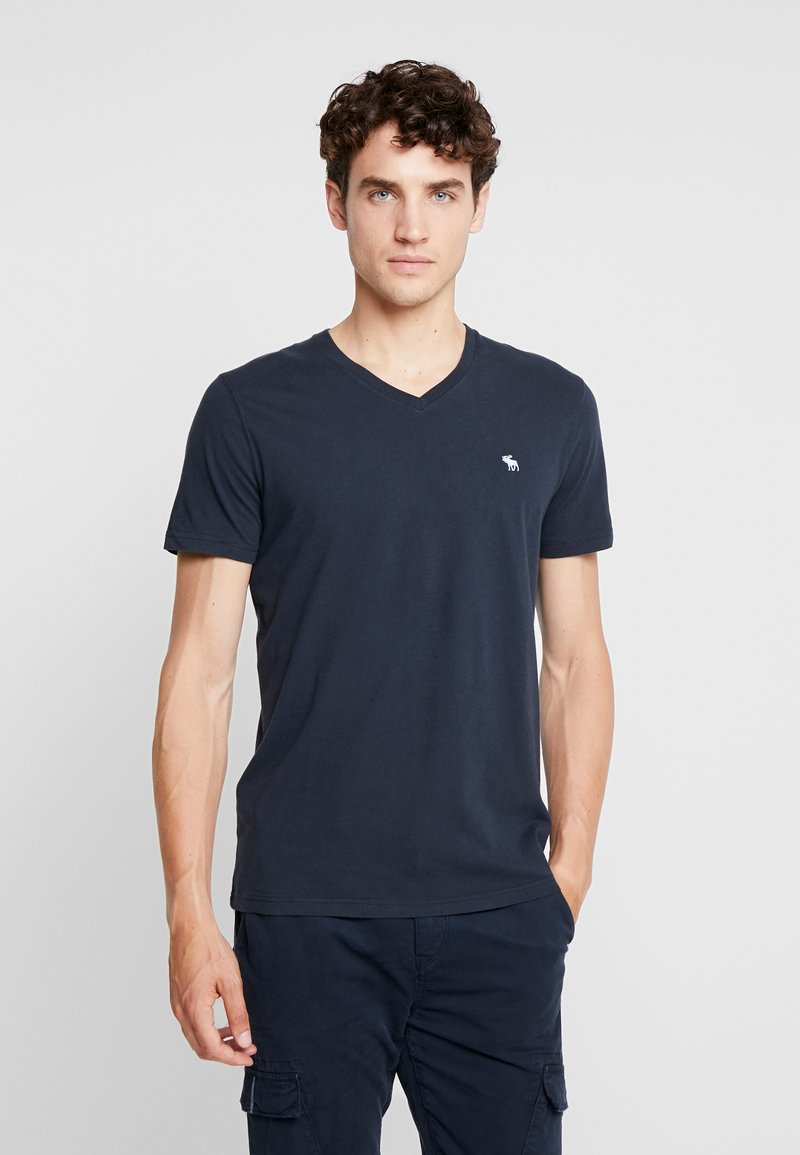 Abercrombie & Fitch - POP ICON NEUTRAL  - Basic T-shirt - navy