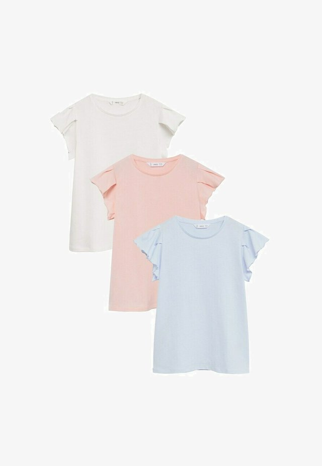 3-PACK SOFTPK-I - T-shirt con stampa - gebroken wit