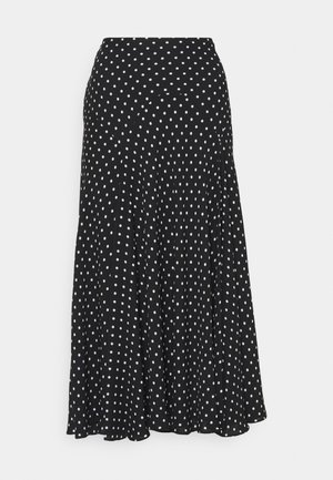 DRAPEY SKIRT - A-line skirt - black/white